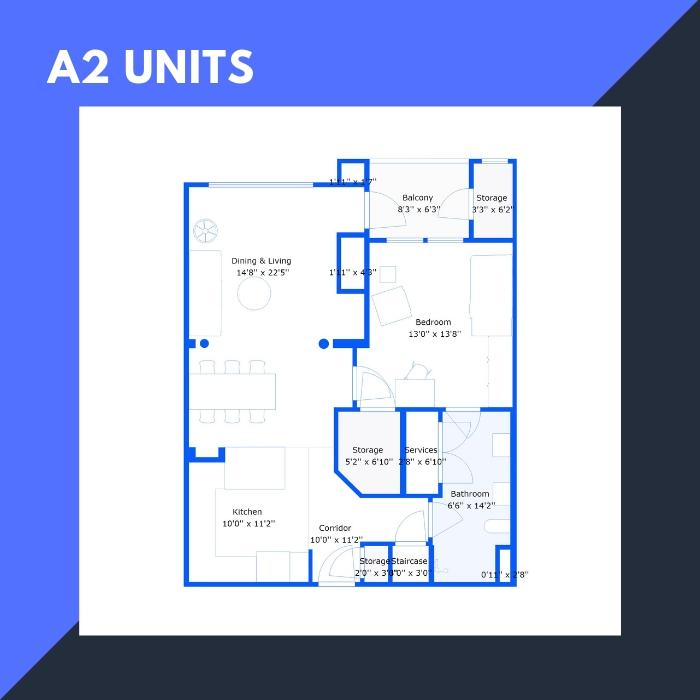 A2 Series – 1 BR Apartments