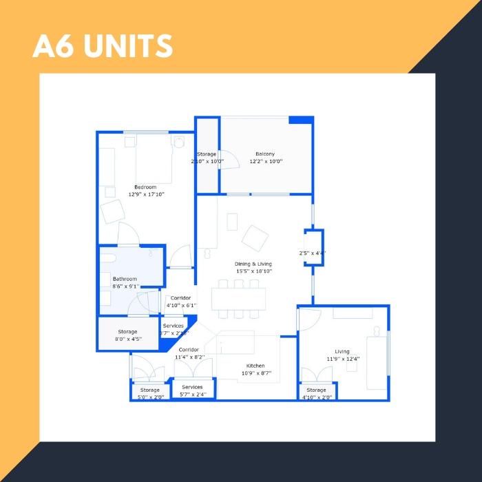 A6 Series – 1 BR Apartments