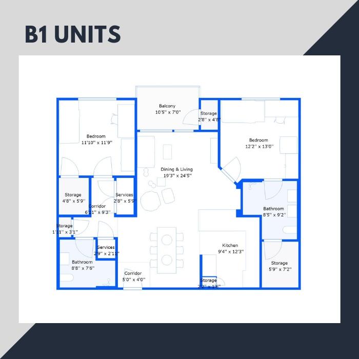 B1 Series – 2 BR Apartments